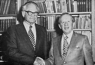 Barry Goldvasser with Dr. Moses Lehrman.