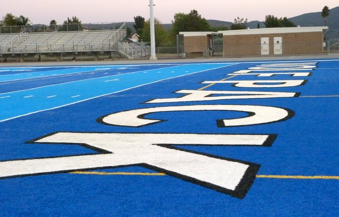 West Hills' blue turf is one of the most unique playing surfaces in the section