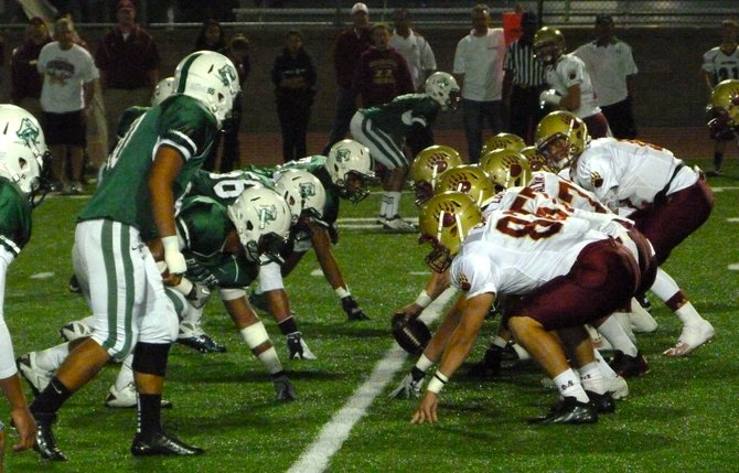 The line of scrimmage between Mission Hills and Oceanside