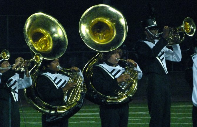 Oceanside's band performs during halftime