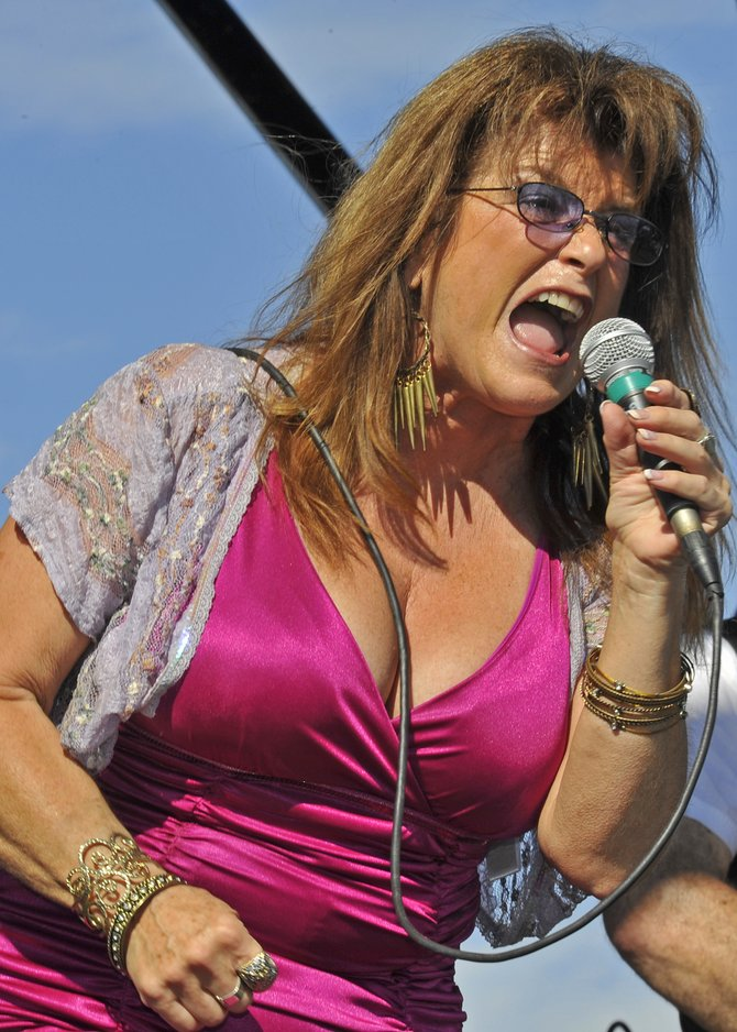 Michele Lundeen belting out the tunes at the annual Adams Avenue Street Faire, 09/29/2012