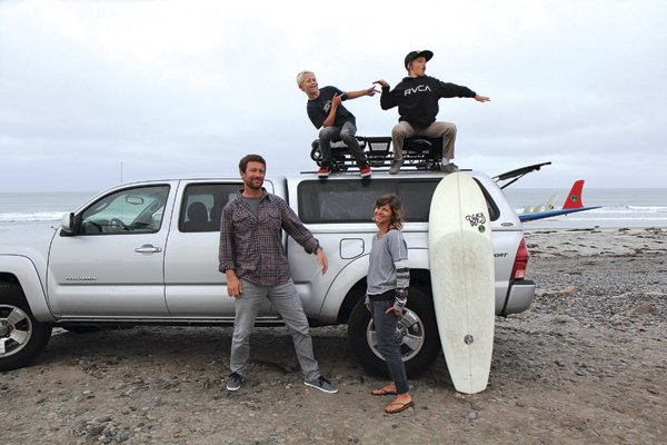 """Crozier family. Caleb: """"My brother does steezie stuff on the longboard. I'm more of a radical, like, ripper-shredder."""""""