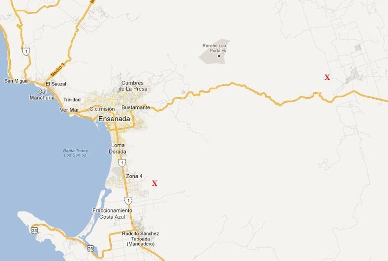 Areas where the murdered women were found