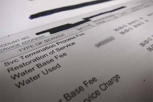Service termination and service restoration fee on the same bill?