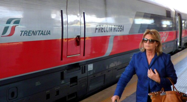 Speed meets style: the luxurious high-speed Frecciarossa connects Milan and Rome in under three hours.