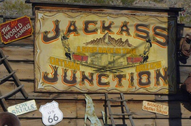 Jackass Junction, Oatman, AZ.