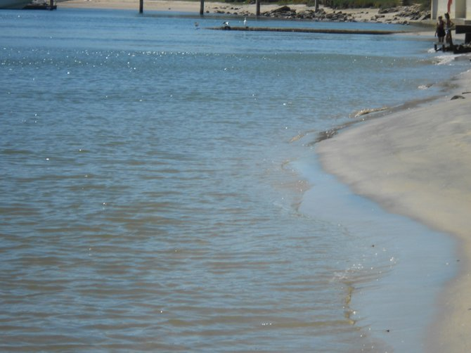 The glistening waters of San Diego Bay near Shelter Island on a hot day.