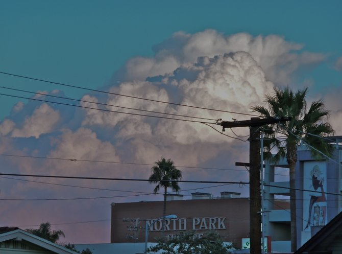 As the front passed over North Park, the clouds put on a show above the NP Theater...