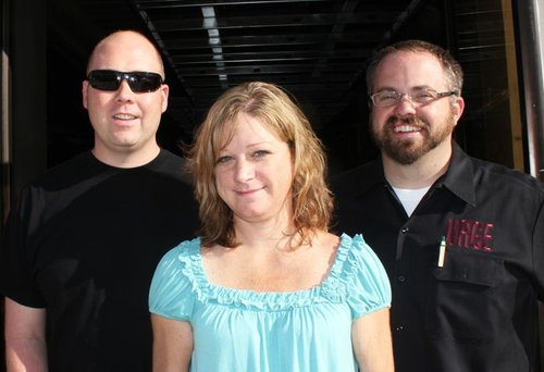 "Two ""brothers"" and a ""sister"" (l-r): Zack Higson, Michelle Leamer, and Grant Tondro."