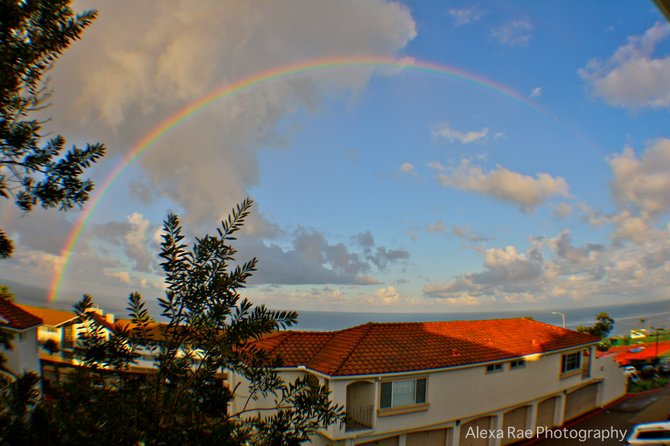 Rainbow off the coast of Point Loma after a previous storm.