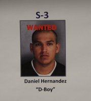 Photo of Hernandez displayed at OPD.