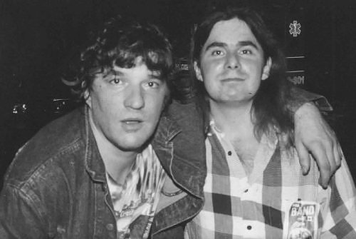 (Backstage in Groton CT with Rick Danko, 1991)
