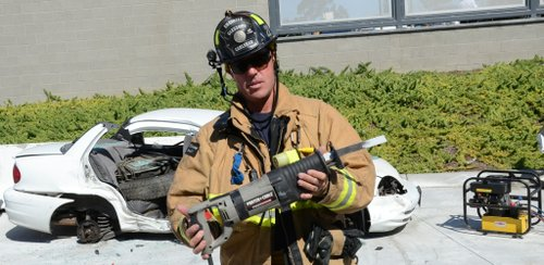 Fire Dept. engineer Danny Glessner.  Photo Weatherston