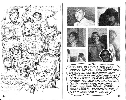 (Darkseid creator Jack Kirby's drawing of the 5-String Mob, from the 1971 Comic-Con program book)