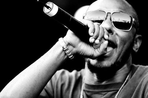 Rapper/actor/activist Mos Def rocks the mic at 4th&B Friday night.