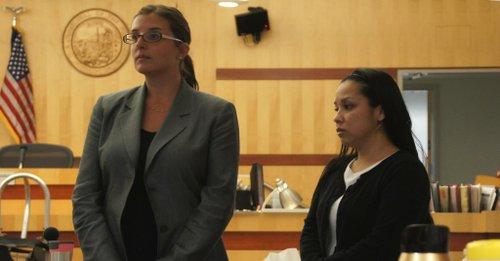 Def atty Lindsay Itzhaki and defendant Debbie Sumi.  Photo Bob Weatherston.