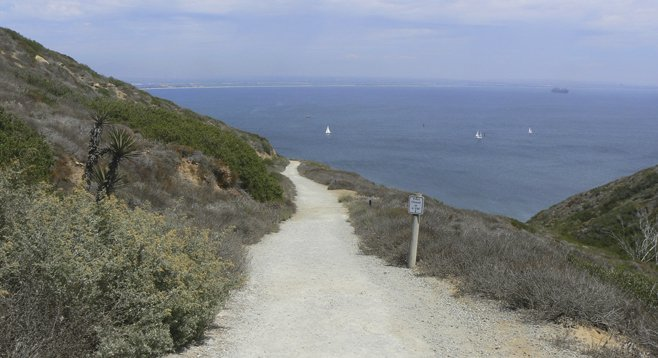 Cabrillo National Monument's Bayside Trail offers views that stretch into Mexico and out to the Cuyamaca Mountains, plus up-close viewing of pit-stopping migratory birds.