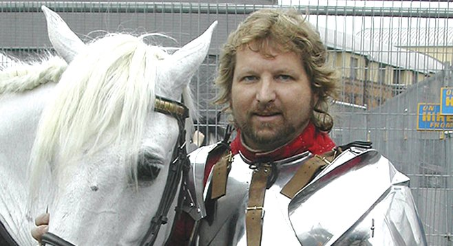 Jeffrey Hedgecock, 43, of Ramona, has built a life around Medieval things.