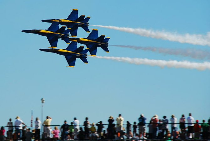 The Blue Angels at the Miramar Air Show