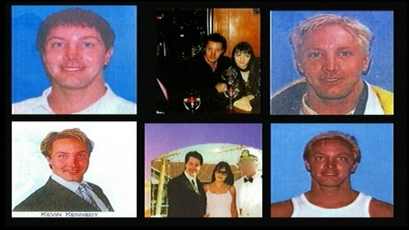 Various photos of Tyler Adams released by authorities while he was a fugitive.