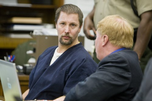 Tyler Adams in a San Diego courtroom more than a year ago.  Photo Weatherston.
