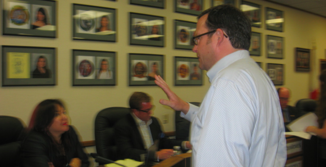 Attorney Kevin Carlin served subpoenas to district board members.