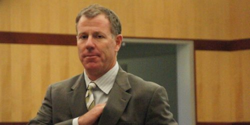 Prosecutor Geoff Allard suggested the attack was racially motivated.  Photo Weatherston.