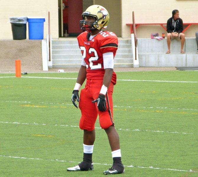 Santa Fe Christian junior running back Jerry Harper