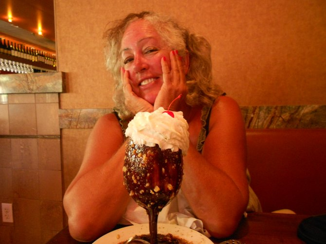Birthday sugar overload at Sammi's Woodfire Pizza!