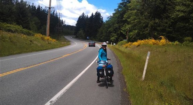 On the road near Coupeville on Washington's Whidbey Island.