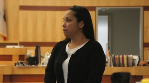 Debbie Pacheco Sumi in court.  Photo Weatherston.