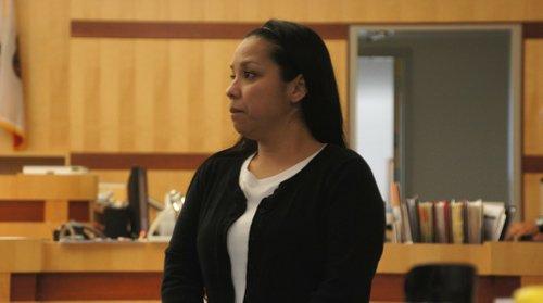 Debbie Pacheco Sumi in court.  Photo Weatherston.