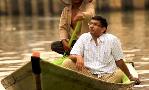 Dinesh D'Souza without a paddle.