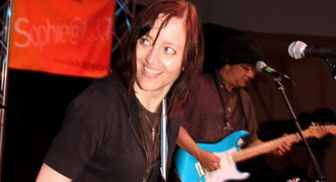 Wendy Bailey bears the scar from one of her first live shows in San Diego.