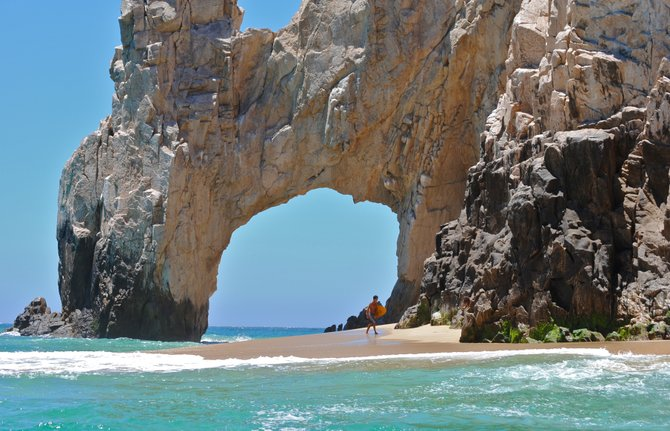 Cabo San Lucas is the best place to go for crystal clear water and amazing rock formations.