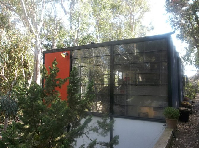 L.A.'s Eames House is a landmark of mid-20th century modern architecture.
