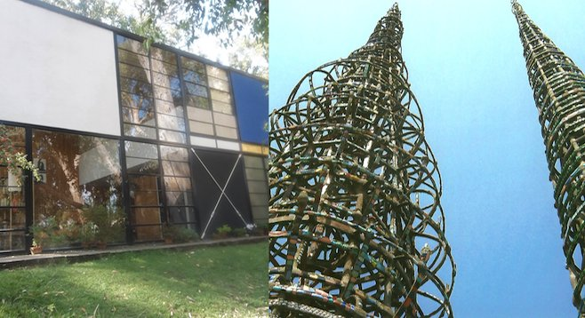 Two very different sides of L.A.'s artistic heritage are represented in the Eames House and Watts Towers.