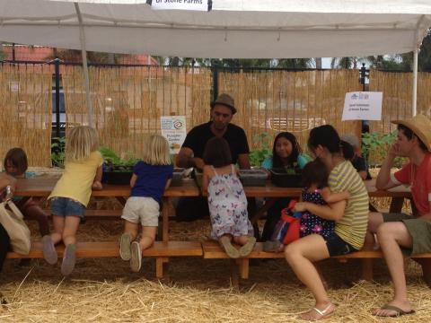 David Solomon of Stone Farms demonstrating how to start your own home garden
