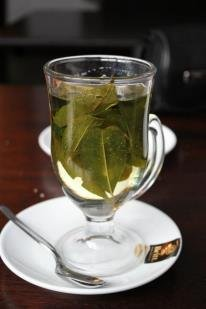 A cup of refreshing tea in Peru