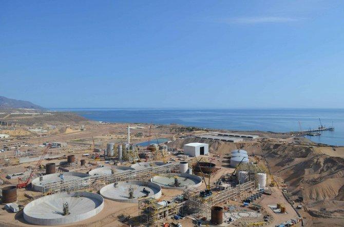 Photo of mine construction from company website