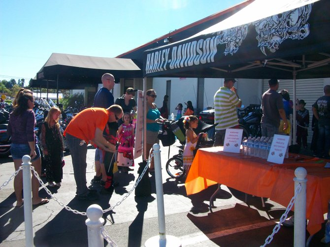 Halloween party at San Diego Harley Davidson in Kearney Mesa.
