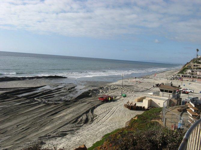 The beach is getting bigger at Moonlight Beach in Encinitas.