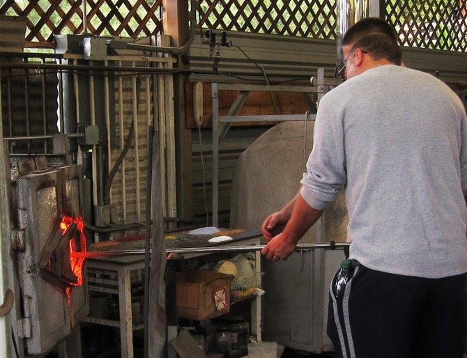 Glass-blowing at the Bernardo Winery in Rancho Bernardo