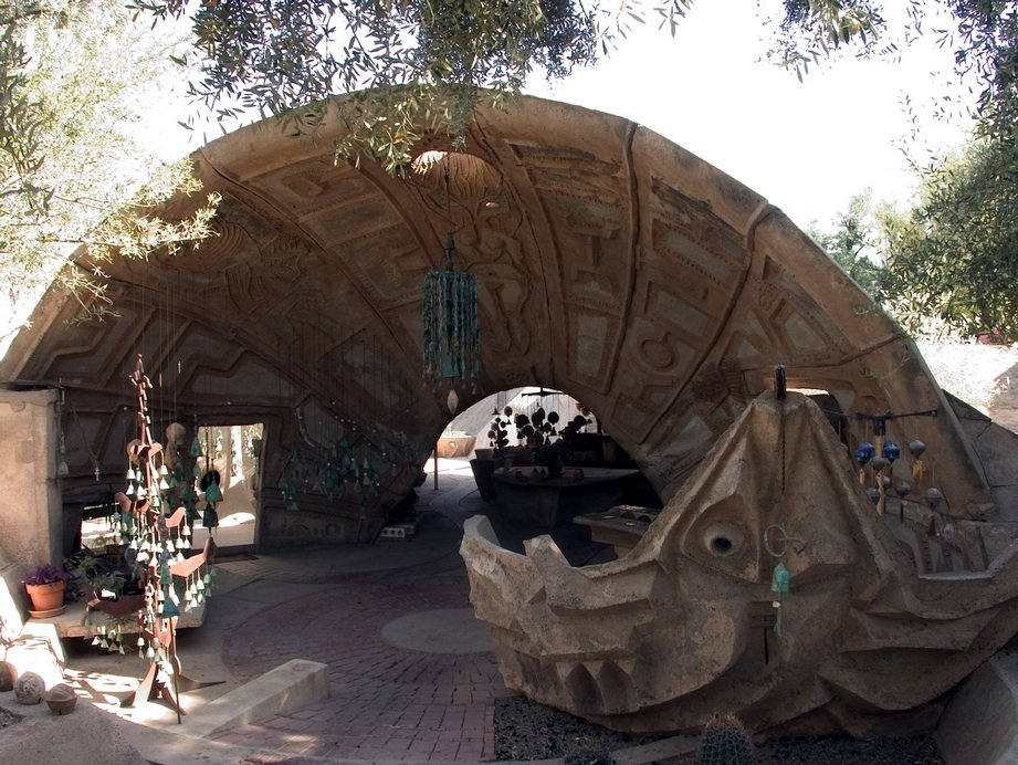 North Apse, Cosanti (photo by Graziella Pazzanese, courtesy of Cosanti Foundation)