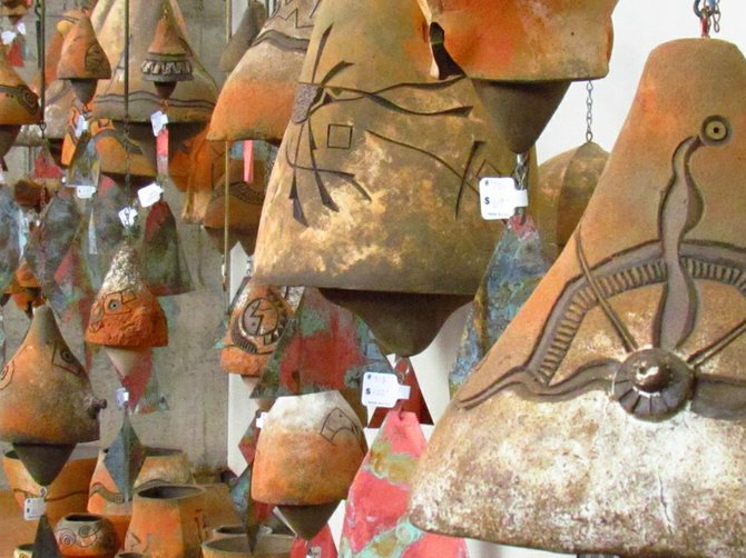 windbell art at Cosanti