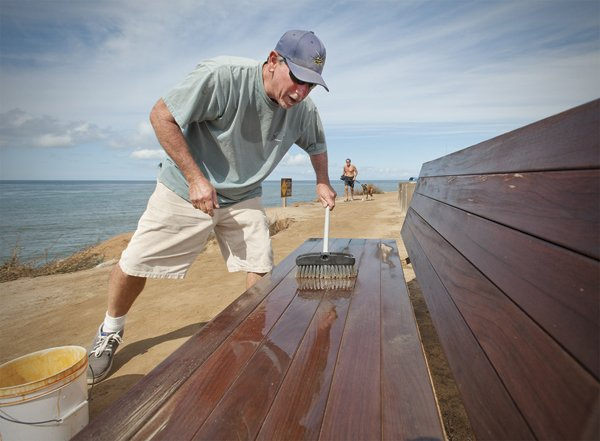 Jim Grant took it upon himself to restore and maintain the public benches at Sunset Cliffs.