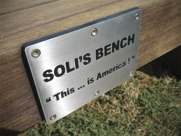 Private donors paid between $2500 and $3000 to sponsor the benches as memorials.