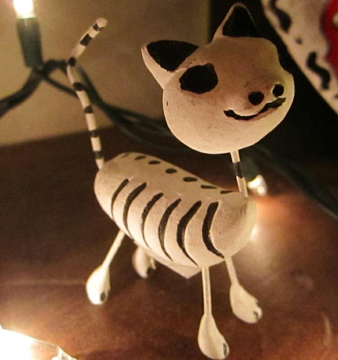 Skeleton Cat!  Enjoyed the Day of the Dead festival in Sherman Heights on Sunday.