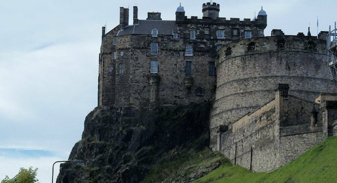 Dominating the city's skyline, the 12th-century Edinburgh Castle marks the western end of the Royal Mile.