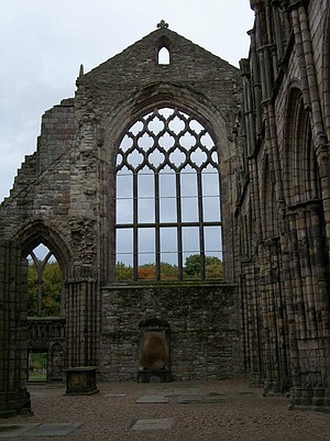 The ruins of Holyrood Abby, at the eastern end of the Royal Mile.